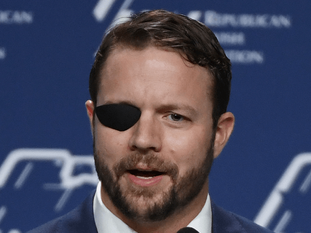 U.S. Rep. Dan Crenshaw (R-TX) speaks at the Republican Jewish Coalition's annual leadership meeting at The Venetian Las Vegas after appearances by U.S. President Donald Trump and Vice President Mike Pence on April 6, 2019 in Las Vegas, Nevada. Trump has cited his moving of the U.S. embassy in Israel …