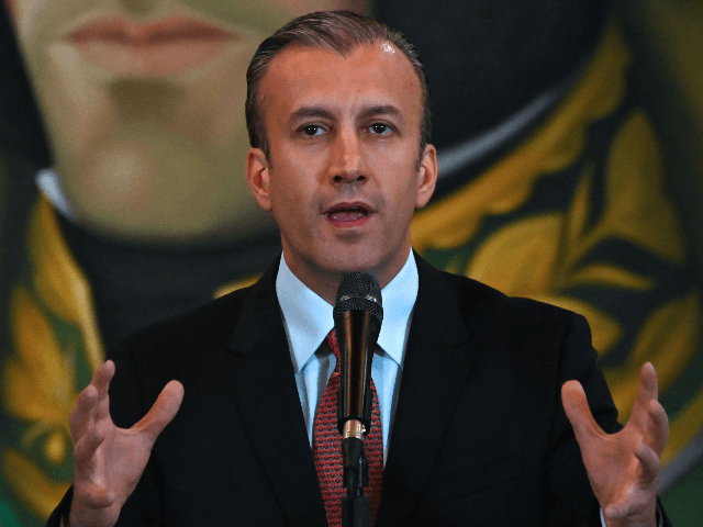 Venezuelan Vice-President Tareck El Aissami delivers a press conference in Caracas on May 10, 2019. - Venezuela announced Friday the reopening of its land border with Brazil and its maritime border with Aruba, which had been closed since February. (Photo by Marvin RECINOS / AFP) (Photo credit should read MARVIN …