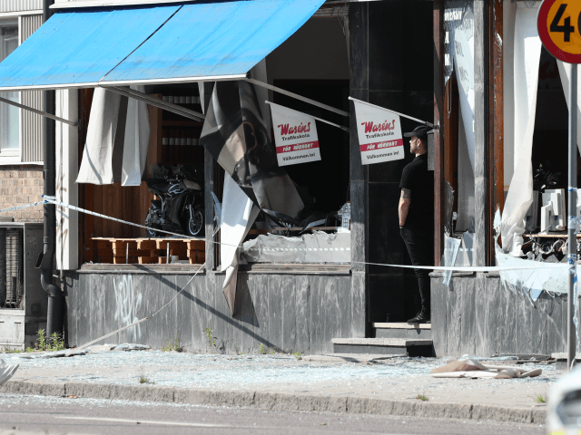 A damaged building that was hit by an explosion on early, June 7, 2019 is seen in Linkoping, central Sweden. - The cause of the blast is still unknown. (Photo by JEPPE GUSTAFSSON / TT News Agency / AFP) / Sweden OUT (Photo credit should read JEPPE GUSTAFSSON/AFP/Getty Images)
