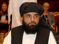 Suhail Shaheen, spokesman for the Taliban in Qatar, attends the Intra Afghan Dialogue talks in the Qatari capital Doha on July 7, 2019. - Dozens of powerful Afghans met with a Taliban delegation on July 7, amid separate talks between the US and the insurgents seeking to end 18 years …
