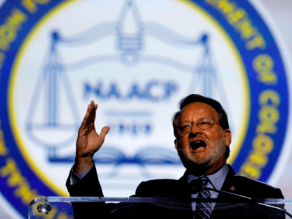 Senator Gary Peters (D-Michigan) addresses the NAACP's (National Association for the Advancement of Colored People) 110th National Convention at Cobo Center in Detroit, Michigan on July 22, 2019. (Photo by JEFF KOWALSKY / AFP) (Photo credit should read JEFF KOWALSKY/AFP/Getty Images)