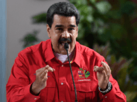 Venezuelan President Nicolas Maduro delivers a speech during the closing ceremony of the the Sao Paulo Forum at Miraflores Presidential Palace in Caracas on July 28, 2019. - Sao Paulo Forum is a conference of leftist political parties and other organizations from Latin America and the Caribbean. (Photo by Federico …