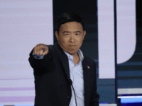 ormer tech executive Andrew Yang reacts during the second night of the first Democratic presidential debate on June 27, 2019 in Miami, Florida. A field of 20 Democratic presidential candidates was split into two groups of 10 for the first debate of the 2020 election, taking place over two nights …