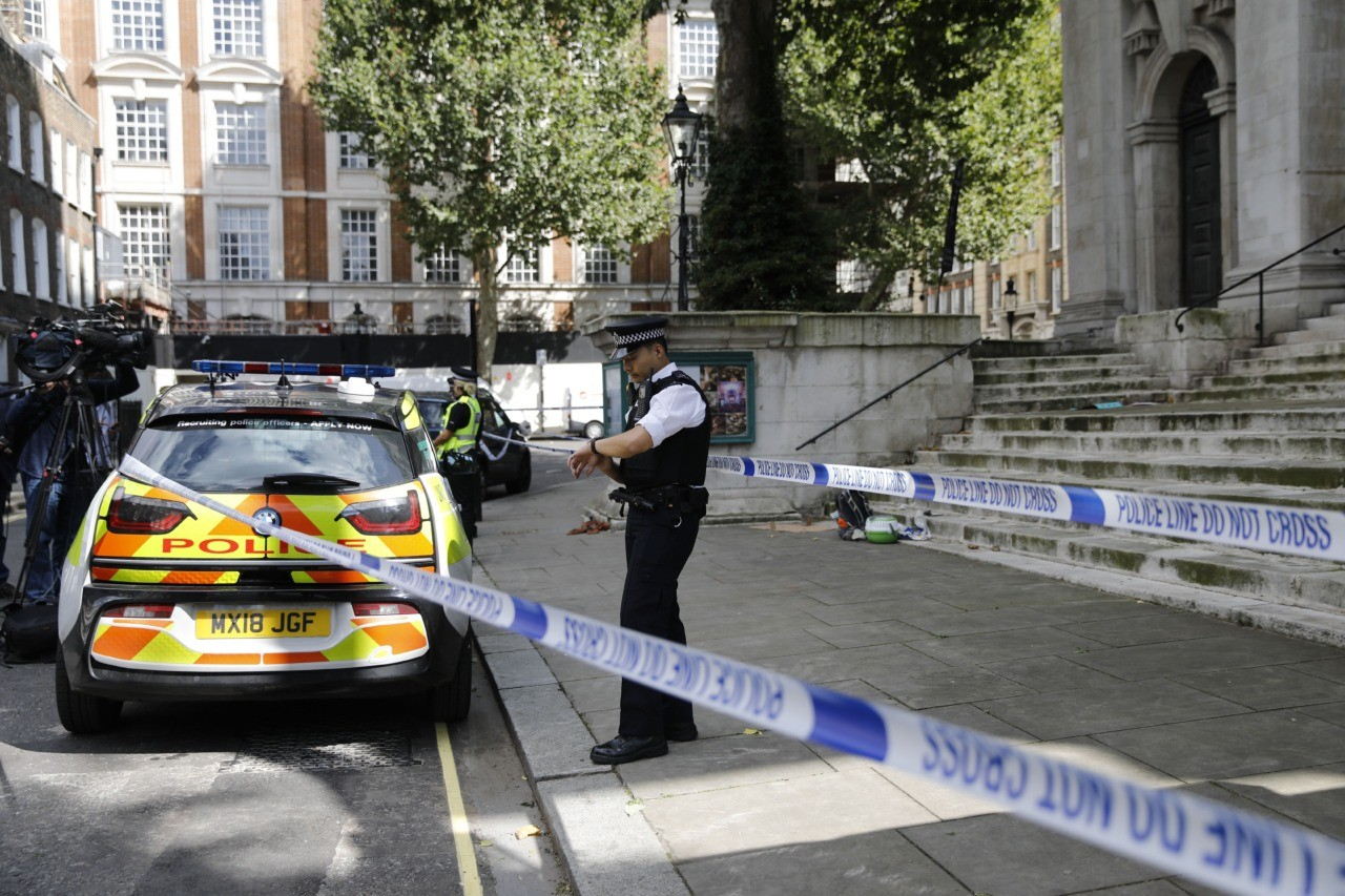 Man stabbed outside Home Office and terror is not ruled out