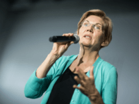 Democratic presidential candidate, Sen. Elizabeth Warren (D-MA) addresses a crowd at a town hall event on August 17, 2019 in Aiken, South Carolina. Warren has held more than ten 2020 campaign events in the early primary state. (Photo by Sean Rayford/Getty Images)