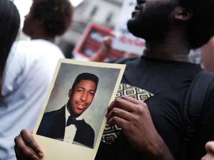 NEW YORK, NEW YORK - JULY 17: People participate in a protest to mark the five year anniversary of the death of Eric Garner during a confrontation with a police officer in the borough of Staten Island on July 17, 2019 in New York City. Yesterday it was announced that …