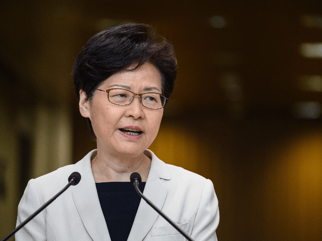 Hong Kong Chief Executive Carrie Lam speaks at a press conference in Hong Kong on August 27, 2019. - Protests in Hong Kong were sparked by broad opposition to a plan to allow extraditions to mainland China, but has since morphed into a wider call for democratic rights in the …