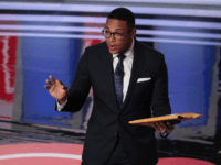 CNN moderator Don Lemon speaks to the crowd attending the Democratic Presidential Debate at the Fox Theatre July 31, 2019 in Detroit, Michigan. 20 Democratic presidential candidates were split into two groups of 10 to take part in the debate sponsored by CNN held over two nights at Detroit's Fox …
