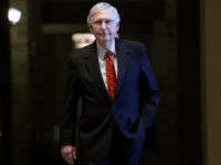 Senate Majority Leader Mitch McConnell (R-KY) walks to a series of votes at the U.S. Capitol August 1, 2019 in Washington, DC. The Senate is scheduled to vote on a two year budget agreement today that lifts the debt ceiling and increases current spending by $320 billion. (Photo by Win …