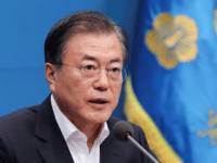 "In this handout image provided by the South Korean Presidential Blue House, South Korean President Moon Jae-in attends the meeting regarding the Japan's decision to remove South Korea from a ""whitelist"" of favoured export partners at Presidential Blue House on August 02, 2019 in Seoul, South Korea. Japan approved a …"