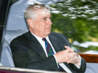 Prince Andrew, Duke of York is driven from Crathie Kirk Church following the service on August 11, 2019 in Crathie, Aberdeenshire. Queen Victoria began worshipping at the church in 1848 and every British monarch since has worshipped there while staying at nearby Balmoral Castle. (Photo by Duncan McGlynn/Getty Images)