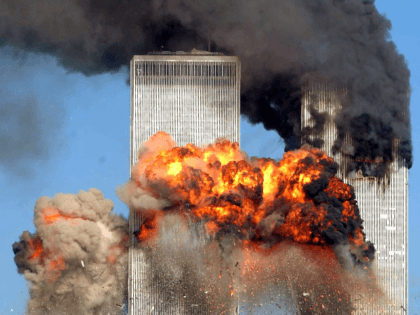 Hijacked United Airlines Flight 175 from Boston crashes into the south tower of the World Trade Center and explodes at 9:03 a.m. on September 11, 2001 in New York City. The crash of two airliners hijacked by terrorists loyal to al Qaeda leader Osama bin Laden and subsequent collapse of …