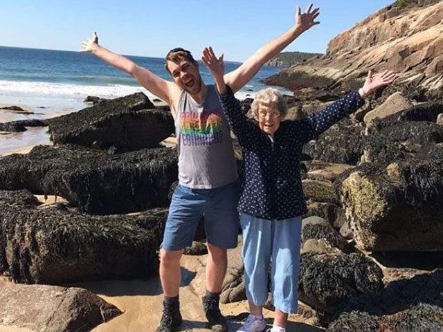 Grandma Joy and grandson