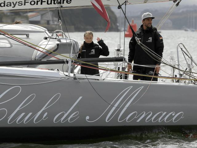Climate Activist Greta Thunberg Sets Sail for U.S. in Solar Yacht