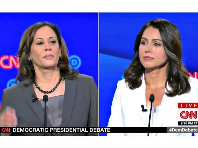 Harris vs Gabbard at Debate