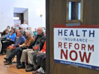 People attending a healthcare rally in Maryland. Photo: Tim Sloan/AFP via Getty Images