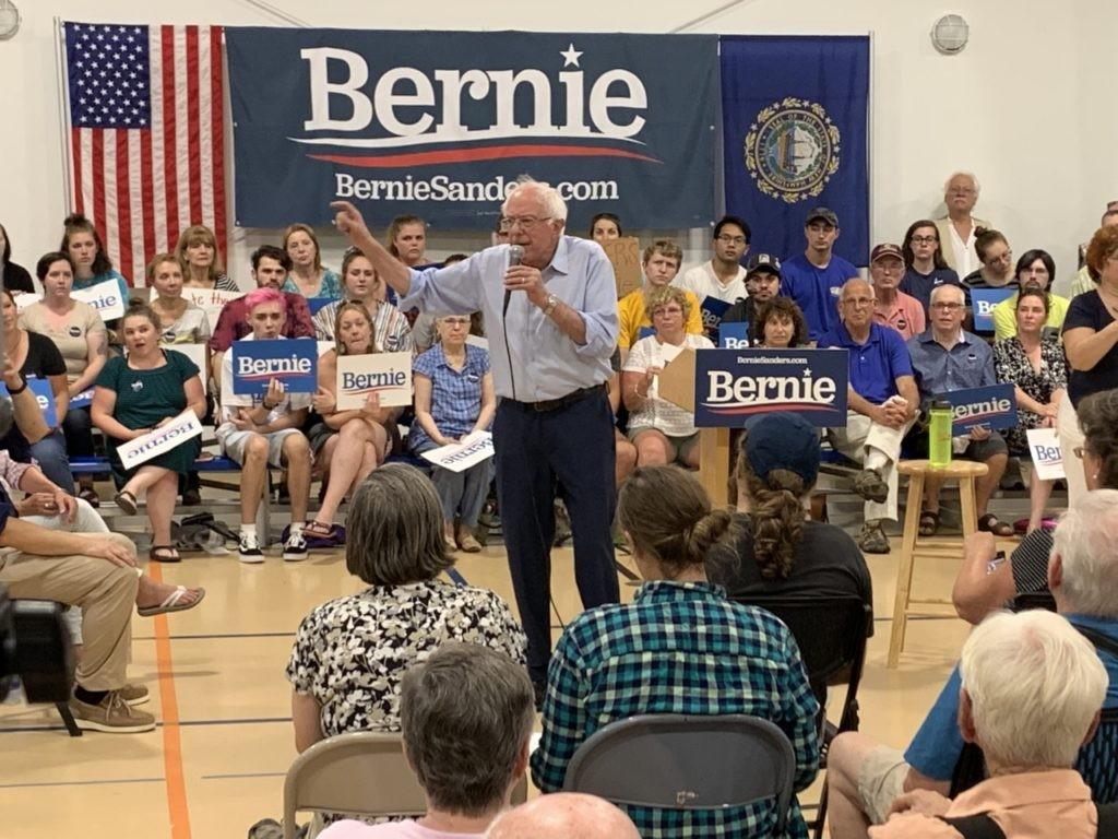 Bernie Sanders in North Conway, NH (Joel Pollak / Breitabrt News)