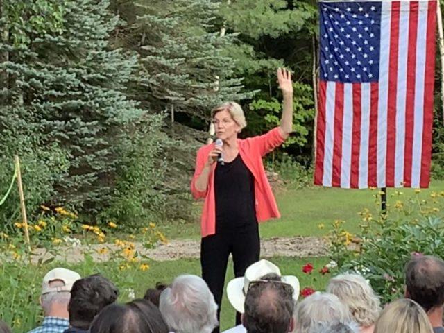 Elizabeth Warren in New Hampshire (Joel Pollak / Breitbart News)