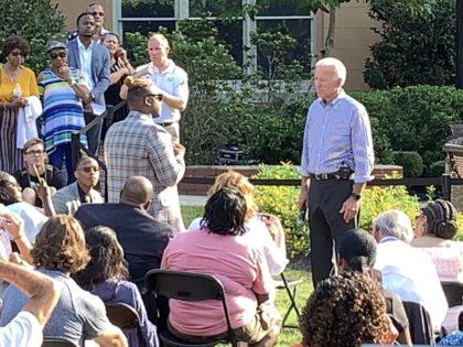 Jalon Roberson questions Joe Biden (Joel Pollak / Breitbart News)