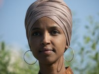Rep. Ilhan Omar, D-Minn., the first Somali-American elected to Congress who is a frequent target of President Donald Trump, speaks as she introduces the Zero Waste Act that creates a federal grant program to help local governments invest in waste reduction initiatives, at the Capitol in Washington, Thursday, July 25, …