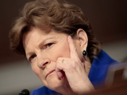 "Senate Armed Services Committee member Sen. Jeanne Shaheen, D-N.H., questions Marine Corps Commandant Gen. Robert B. Neller on Capitol Hill in Washington, Tuesday, March, 14, 2017, during the committee's hearing on the investigation of nude photographs of female Marines and other women that were shared on the Facebook page ""Marines …"