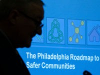 "Philadelphia Mayor Jim Kenney speaks during a news conference at City Hall in Philadelphia, Thursday, Jan. 17, 2019. Months after declaring Philadelphia's gun violence a public health emergency, the mayor presented the ""Roadmap to Safer Communities."" It aims to tackle poverty, invest in community groups and fund innovative policing tactics. …"