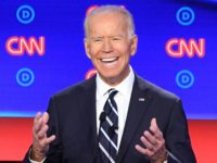 Democratic presidential hopeful Former Vice President Joe Biden delivers his closing statement during the second round of the second Democratic primary debate of the 2020 presidential campaign season hosted by CNN at the Fox Theatre in Detroit, Michigan on July 31, 2019. (Photo by Jim WATSON / AFP) (Photo credit …