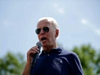 DES MOINES, IOWA - AUGUST 08: Democratic presidential candidate and former Vice President Joe Biden delivers a 20-minute campaign speech at the Des Moines Register Political Soapbox at the Iowa State Fair August 08, 2019 in Des Moines, Iowa. 22 of the 23 politicians seeking the Democratic Party presidential nomination …