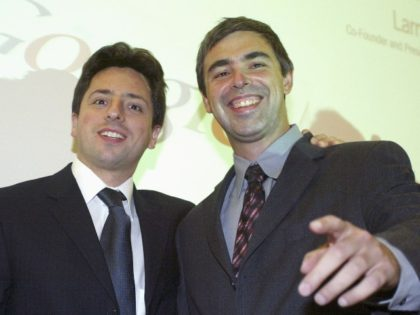 Larry Page and Sergey Brin of Alphabet Inc
