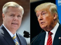 In this combination made from file photos, Republican presidential candidate, U.S. Sen. Lindsey Graham, R-S.C., left, speaks in Central, S.C., and fellow Republican candidate, real estate mogul Donald Trump, speaks in Las Vegas. Donald Trump is used to controlling his world like the boss he is. But as president, he'd …