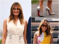 Fashion Notes: Melania Trump Dons Color-Popping Calvin Klein, Sparkling Gucci for G7 Dinner