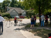 Media crews gather near the street where the suspect in a mass shooting is believed to have a residence on August 4, 2019 in Bellbrook, Ohio. In the second mass shooting in the U.S. within 24 hours, a gunman identified as 24-year-old white male Connor Betts left nine dead and …