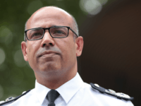 LONDON, ENGLAND - JULY 09: Assistant Commissioner of Specialist Operations Neil Basu at New Scotland Yard reads a statement to the media outside New Scotland Yard on July 9, 2018 in London, England. Police have launched a murder enquiry after Dawn Sturgess, 44, died after being exposed to the nerve …