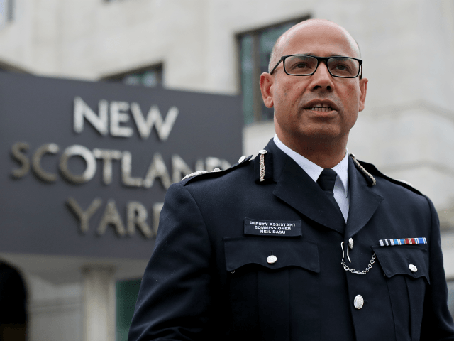 LONDON, ENGLAND - MARCH 13: Deputy Assistant Commissioner Neil Basu speaks to the media outside New Scotland Yard as he gives the lastest update on the poisoning of Sergei Skripal on March 13, 2018 in London, England. British Prime Minister Theresa May has given the Russian government a deadline of …