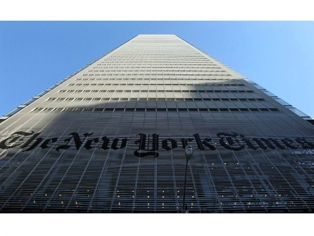 NEW YORK - FEBRUARY 14: The New York Times headquarters is seen February 14, 2008 in New York City. The Times will eliminate 100 newsroom jobs, following a decline in newspaper revenues and a weaker overall economy, by not filling vacant positions, buyouts and and layoffs if necessary. (Photo by …