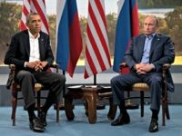 President Barack Obama meets with Russian President Vladimir Putin in Enniskillen, Northern Ireland, Monday, June 17, 2013. Obama and Putin discussed the ongoing conflict in Syria during their bilateral meeting. (AP Photo/Evan Vucci, File)