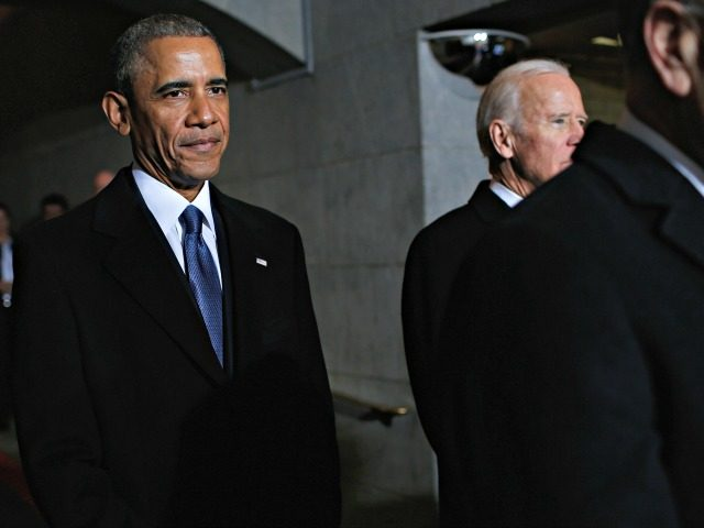 WASHINGTON, DC - JANUARY 20: U.S. President Barack Obama (L) and Vice President Joe Biden arrive on the West Front of the U.S. Capitol on January 20, 2017 in Washington, DC. In today's inauguration ceremony Donald J. Trump becomes the 45th president of the United States. (Photo by Win McNamee/Getty …