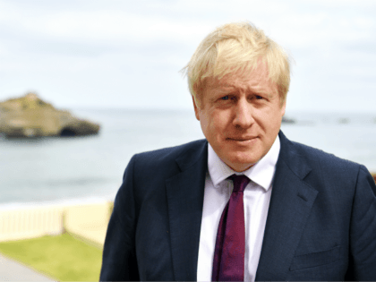 BIARRITZ, FRANCE - AUGUST 25: Britain's Prime Minister Boris Johnson participates in a TV interview ahead of bilateral meetings as part of the G7 summit on August 25, 2019 in Biarritz, France. The French southwestern seaside resort of Biarritz is hosting the 45th G7 summit from August 24 to 26. …