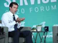 LAS VEGAS, NEVADA - AUGUST 03: Democratic presidential candidate and South Bend, Indiana Mayor Pete Buttigieg speaks during the 2020 Public Service Forum hosted by the American Federation of State, County and Municipal Employees (AFSCME) at UNLV on August 3, 2019 in Las Vegas, Nevada. Nineteen of the 24 candidates …