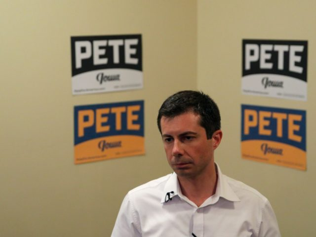 Democratic presidential candidate South Bend Mayor Pete Buttigieg speaks with the media after a campaign event, Thursday, Aug. 15, 2019, in Ottumwa, Iowa. (AP Photo/John Locher)
