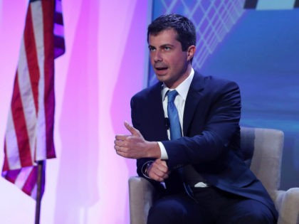 Democratic presidential candidate, South Bend, Indiana Mayor Pete Buttigieg speaks during a U.S. Presidential Candidates Forum at the 2019 NABJ Annual Convention & Career Fair held at the J.W. Marriott Miami Turnberry Resort & Spa on August 08, 2019 in Miami, Florida. The presidential candidates answered questions and spoke before …