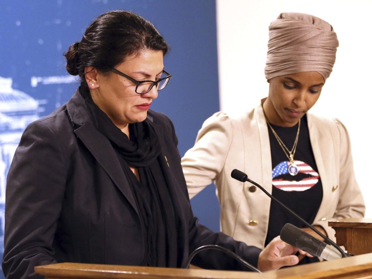 Ilhan Omar, Rashida Tlaib Fail to Criticize Palestinian Terrorism at Presser | Breitbart