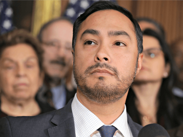 WASHINGTON, DC - FEBRUARY 25: Rep. Joaquin Castro (D-TX) speaks during a news conference about the resolution he has sponsored to terminate President Donald Trump's emergency declaration February 25, 2019 in Washington, DC. The House is expected to vote on and pass a resolution this week that would abolish Trump's …