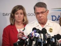 DAYTON, OHIO - AUGUST 05: Dayton Police Chief Richard Biehl, and Dayton Mayor Nan Whaley (L) hold a press conference to update the media about yesterday's mass shooting on August 05, 2019 in Dayton, Ohio. Nine people were killed and another 27 injured when a gunman identified as 24-year-old Connor …