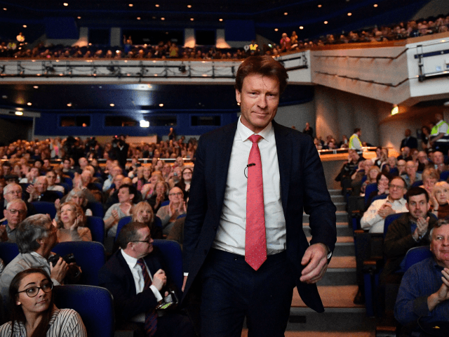 The Brexit Party chairman Richard Tice attends the first public rally of their European Parliament election campaign in Birmingham, central England on April 13, 2019 (Photo by Daniel LEAL-OLIVAS / AFP) (Photo credit should read DANIEL LEAL-OLIVAS/AFP/Getty Images)