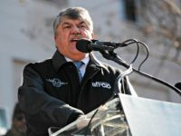 AFL-CIO President Richard Trumka speaks to union members and other federal employees at a rally to call for an end to the partial government shutdown, Thursday, Jan. 10, 2019 at AFL-CIO Headquarters in Washington. (AP Photo/Pablo Martinez Monsivais)