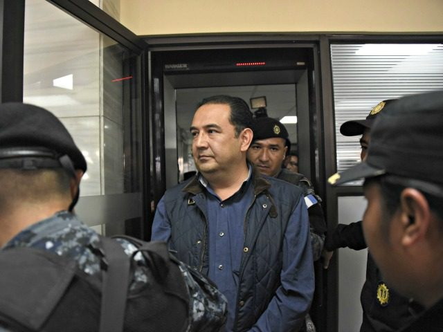 Sammy Morales, brother of Guatemalan President Jimmy Morales, appears in court after being arrested on alleged corruption charges in Guatemala City on January 18, 2017. / AFP / JOHAN ORDONEZ (Photo credit should read JOHAN ORDONEZ/AFP/Getty Images)