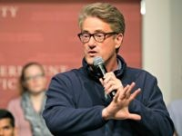 "MSNBC television anchor Joe Scarborough, co-hosts of the show ""Morning Joe,"" takes questions from an audience, Wednesday, Oct. 11, 2017, at a forum called Harvard Students Speak Up: A Town Hall on Politics and Public Service, at the John F. Kennedy School of Government, on the campus of Harvard University, …"