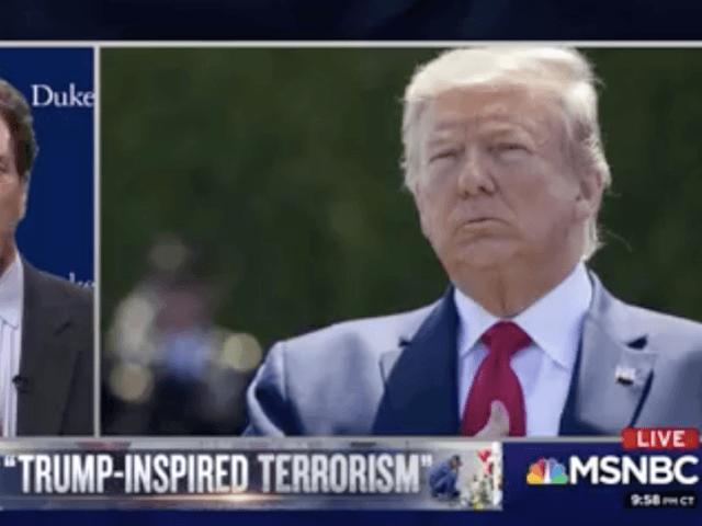 MSNBC chyron Trump-inspired terrorism (Screenshot / MSNBC)