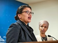 ST PAUL, MN - AUGUST 19: U.S. Reps. Rashida Tlaib (D-MI) and Ilhan Omar (D-MN) hold a news conference on August 19, 2019 in St. Paul, Minnesota. Israeli Prime Minister Benjamin Netanyahu blocked a planned trip by Omar and Tlaib to visit Israel and Palestine citing their support for the …